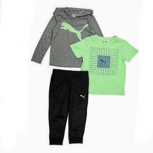 Puma Boy Hoodie Tee and Pants Set